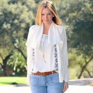 NWOT Cabi # 193 Cable Knit White cardigan Sweater